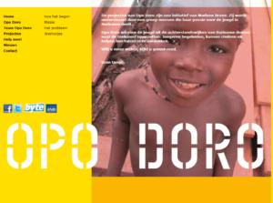 Screenshot website informatie Opo Doro.