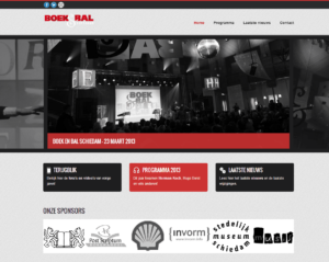 Website screenshot Boek en Bal Schiedam.