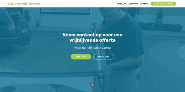 Screenshot LRS Voorruit herstel - start