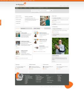 Website screenshot INFO website de Bibliotheek Schiedam.