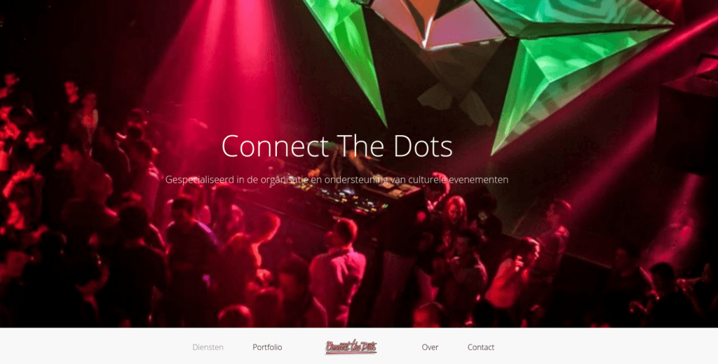 Screenshot Connect the Dots startpagina