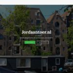 Screenshot Jordaantoer.nl startpagina.