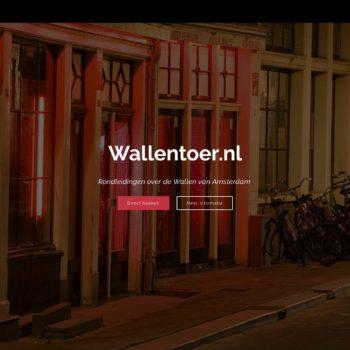 Screenshot Wallentoer.nl - Startpagina.