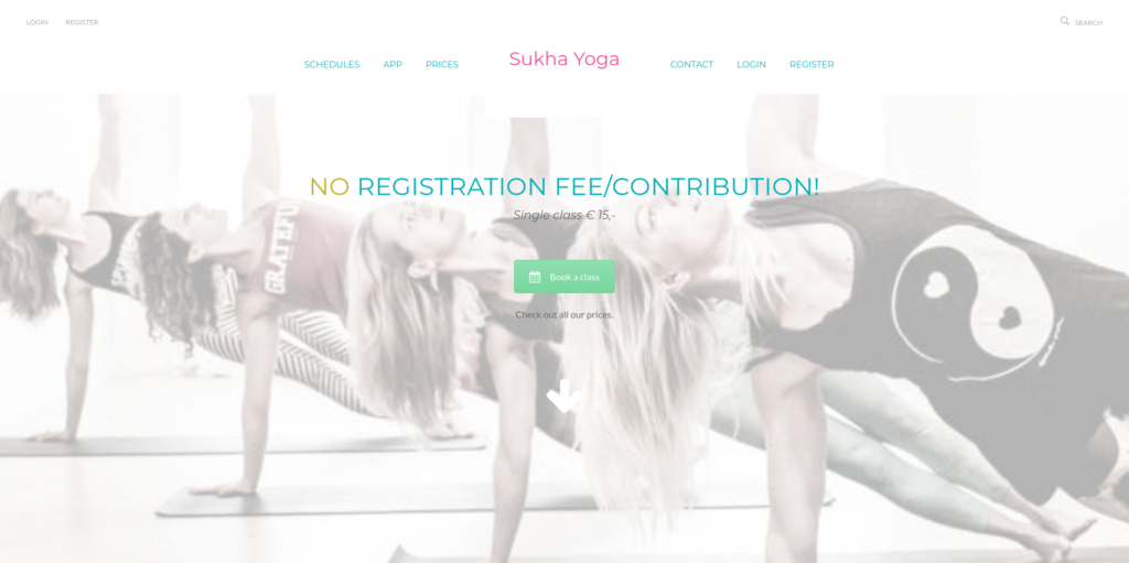 Screenshot Home Sukha Yoga Amsterdam
