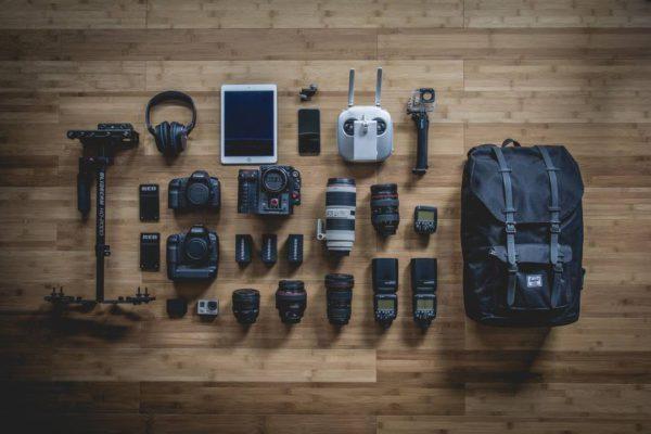 Foto van fotocamera's en lenzen.