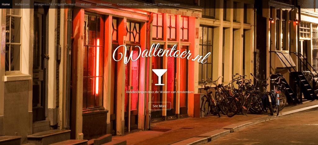 Screenshot header website Wallentoer.nl