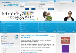 Screenshot website Bibliotheek Waterweg Schiedam.