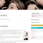 Screenshot docent detail van Sukha Yoga Amsterdam.