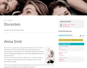 Screenshot docent detail van Sukha Yoga Amsterdam.