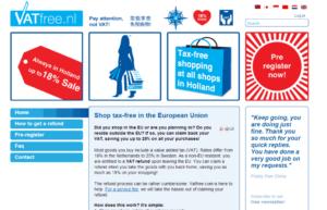 Screenshot website VATfree.nl.