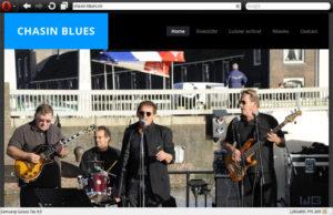 Website screenshot Chasin Blues.