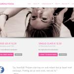 Website screenshot Sukhayoga.nl.