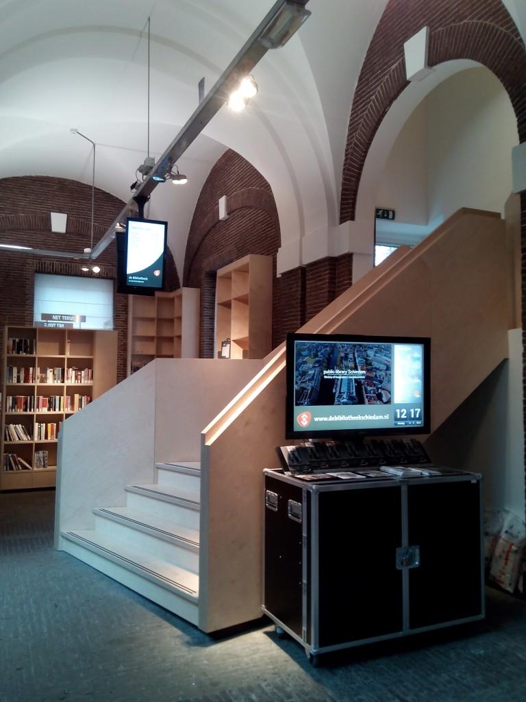 Narrowcasting bij de Bibliotheek Schiedam.