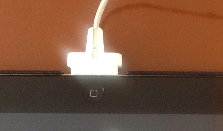 Hulpstuk voor iPad geprint met onze 3D printer