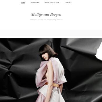 Screenshot website Mattijs van Bergen - home
