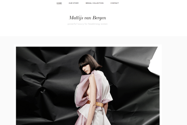 Screenshot website Mattijs van Bergen - home
