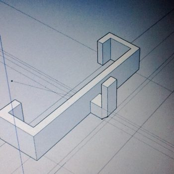 Afbeelding van balkonhaak ontwerp in Sketchup