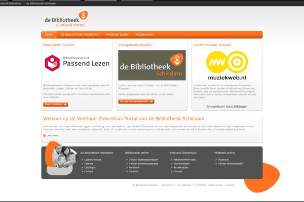 Screenshot ziekenhuis bibliotheek portal