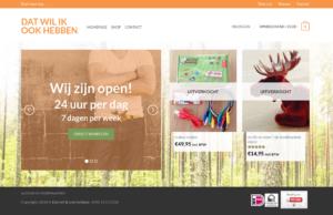 Screenshot homepage Dat wil ik ook hebben.nl