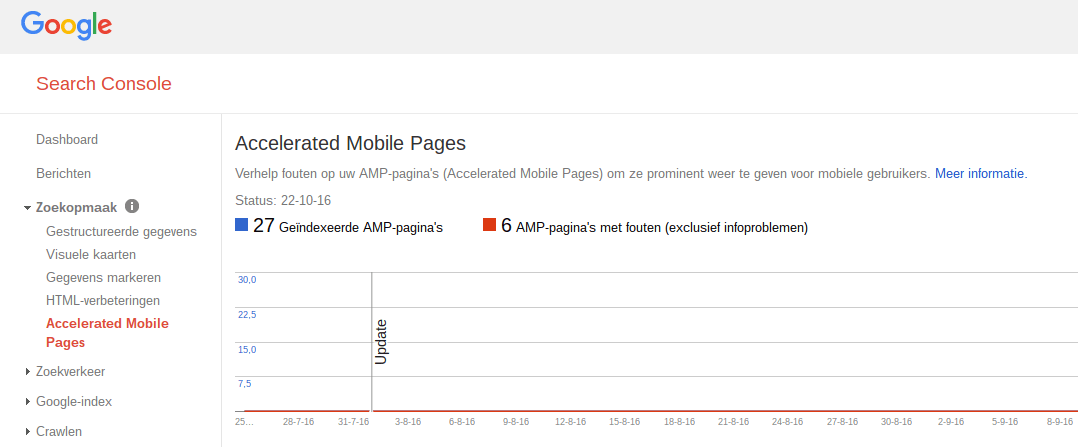 Screenshot Google Search Console - AMP