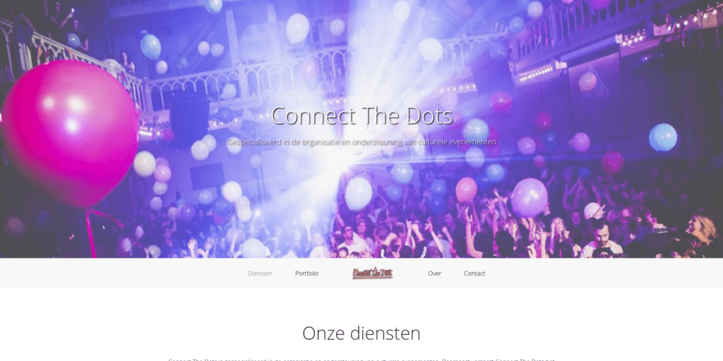 Screenshot Connect The Dots - startpagina