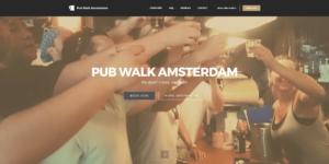 Screenshot website Pub Walk Amsterdam.