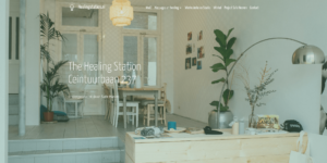Screenshot website Healing Station Amsterdam - Home