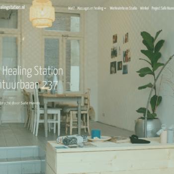 Screenshot website Healing Station Amsterdam - Home