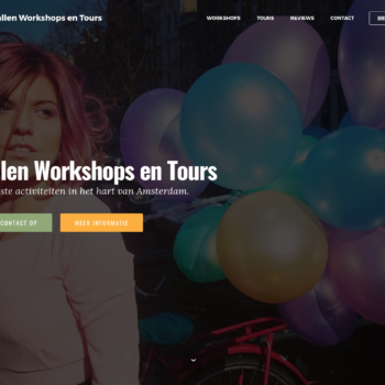 Screenshot Wallen Workshops en Tours - home