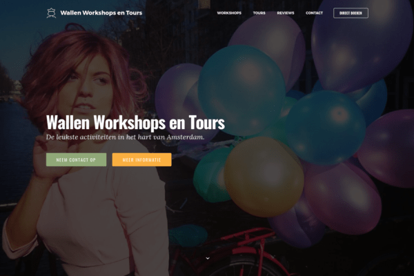 Screenshot Wallen Workshops en Tours - home