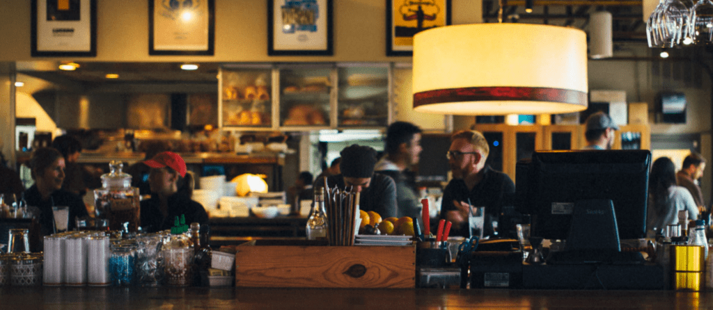 Rechtenvrije foto van een restaurant via Unsplash