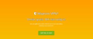 Screenshot pagina Waarom VPN?