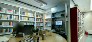 Screenshot van de Bibliotheek Schiedam in de Brug op Google Maps.