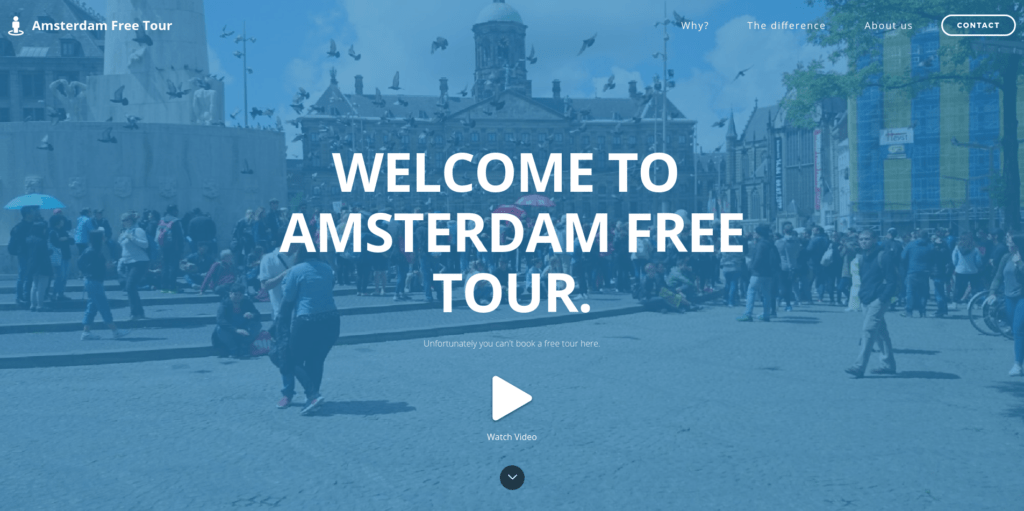 Screenshot Amsterdam Free Tour - Start