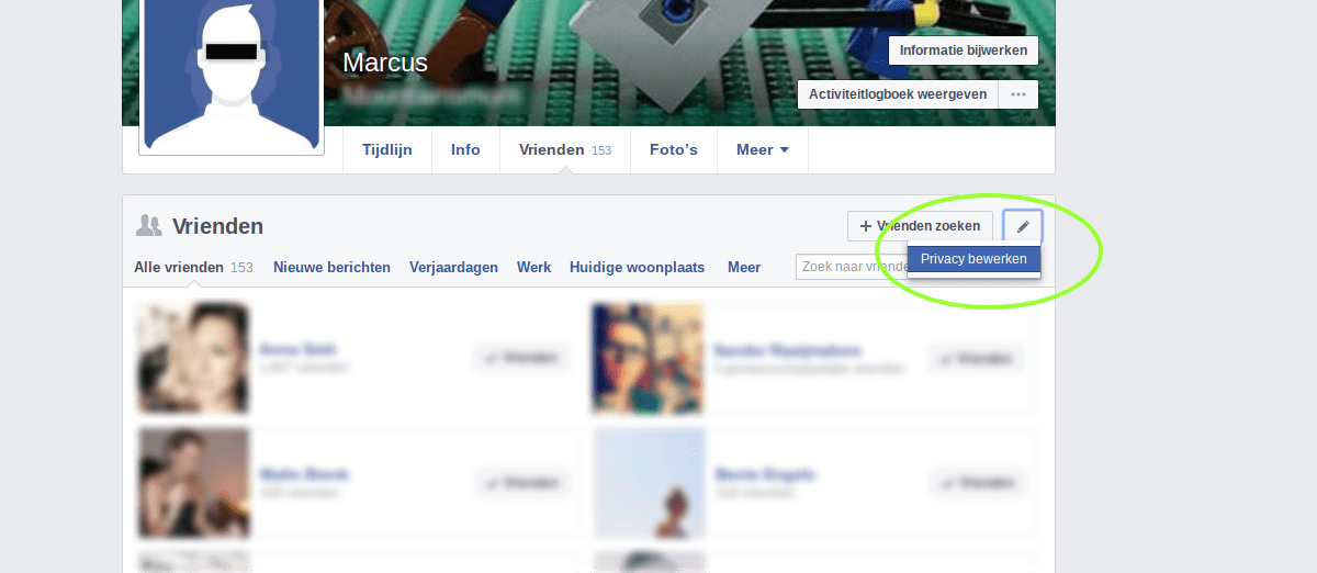 Facebook privacy intstellingen 3 - Verstopte instelling.