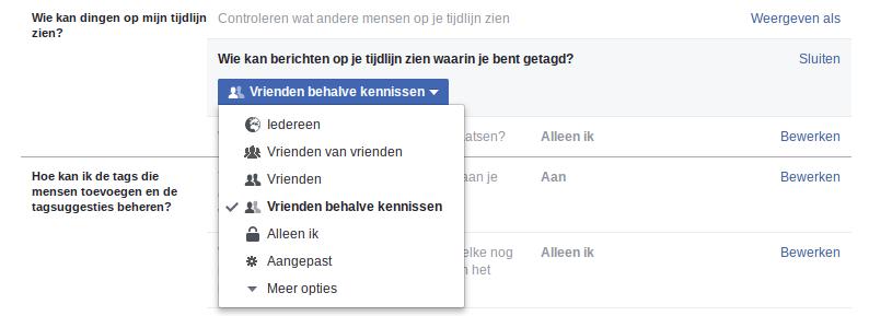 Facebook wie mag mij getagd zien?