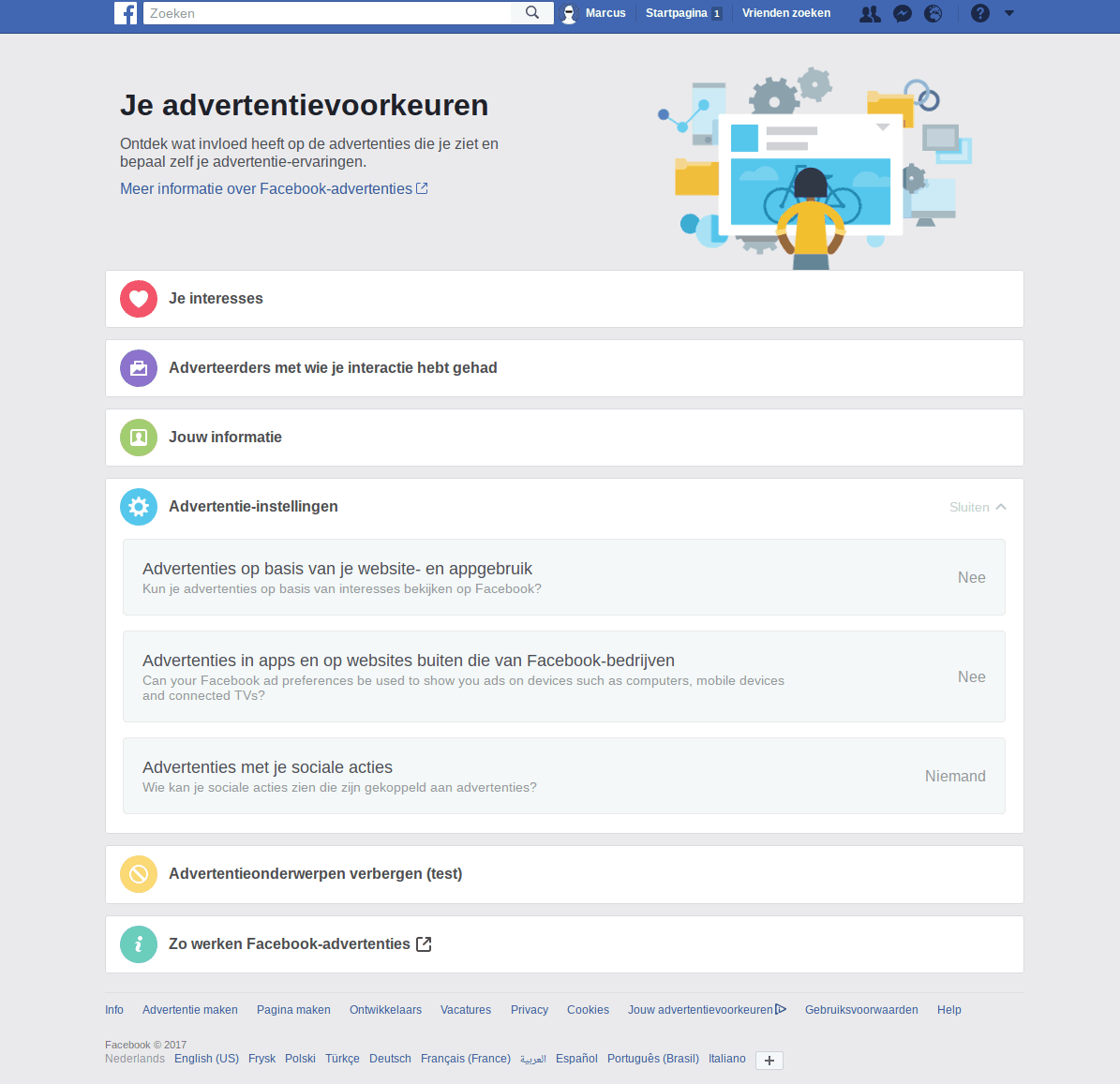 Facebook privacy intstellingen 6 - Advertentievoorkeuren