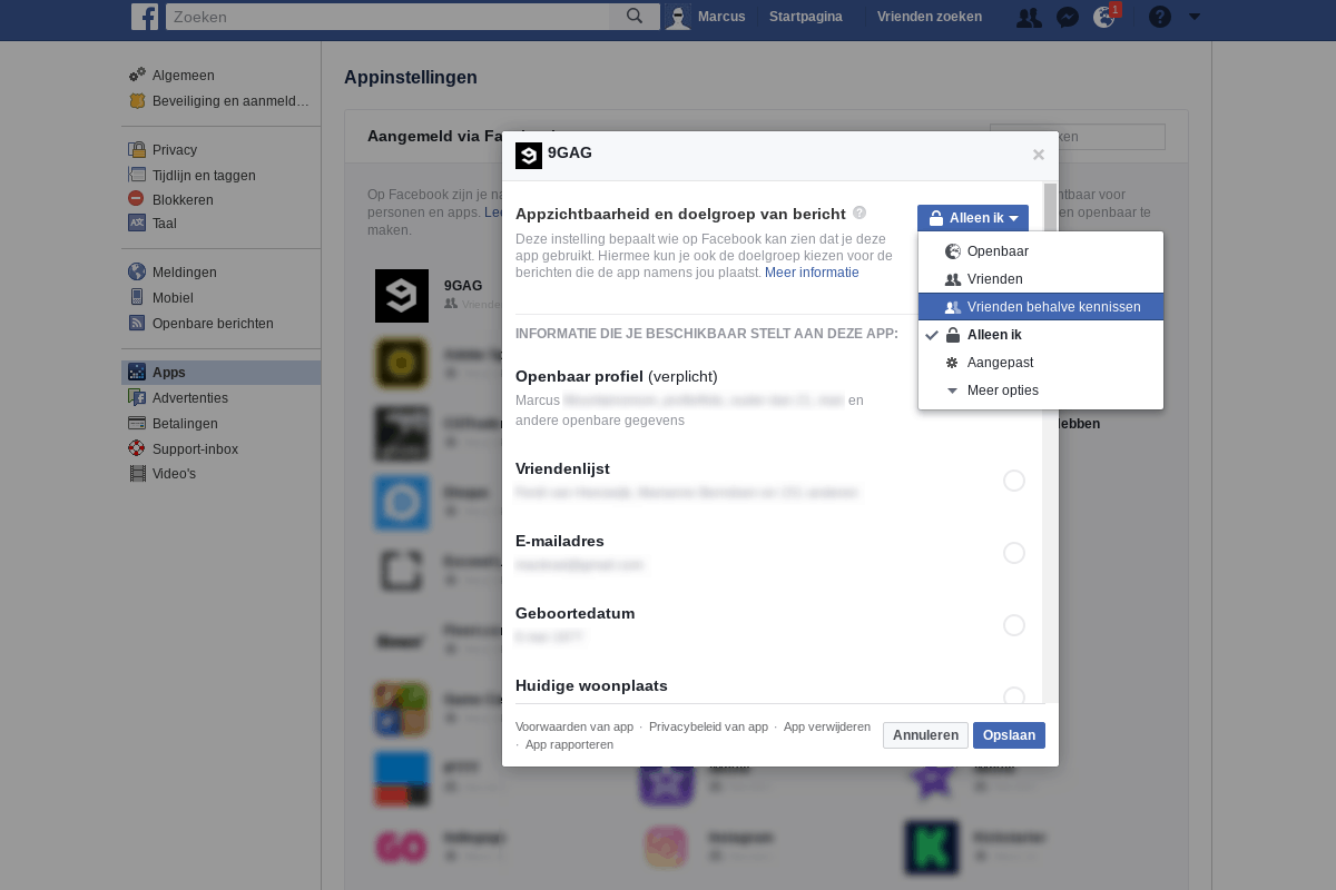 Facebook privacy intstellingen 6 - Facebook Apps