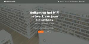 Screenshot WiFi van de Bibliotheek start - Gratis Bibliotheek WiFi