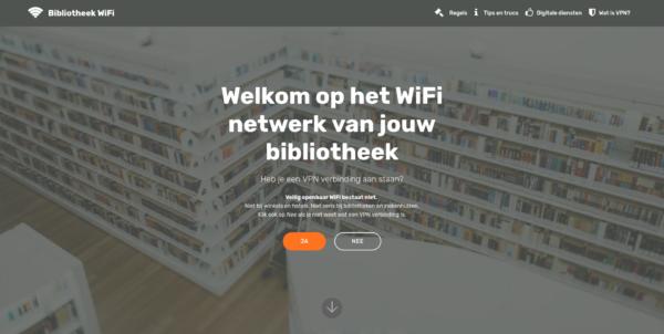 Gratis Bibliotheek WiFi landingspagina