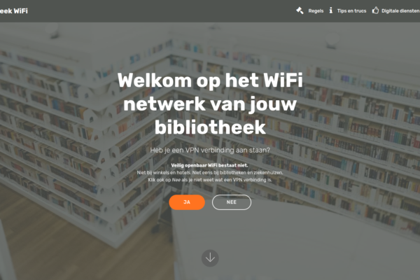 Screenshot WiFi van de Bibliotheek start - Gratis Bibliotheek WiFi