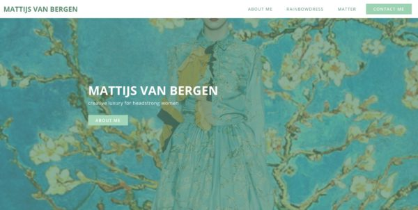 Screenshot Mattijsvanbergen.com - Mattijs van Bergen - Home