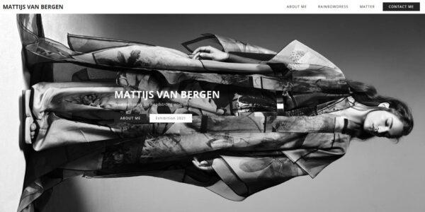 Screenshot homepage Mattijs van Bergen.