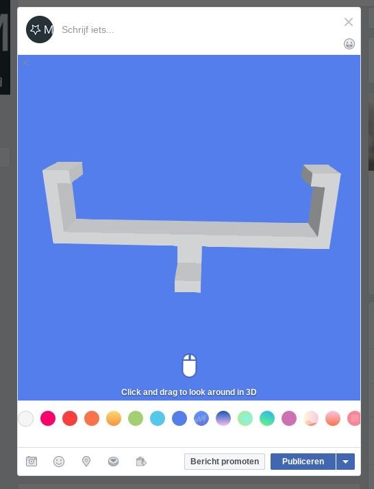 Screenshot - Stap 3 - Facebook achtergrond kleur kiezen
