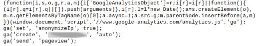 Screenshot anonymize - Google Analytics