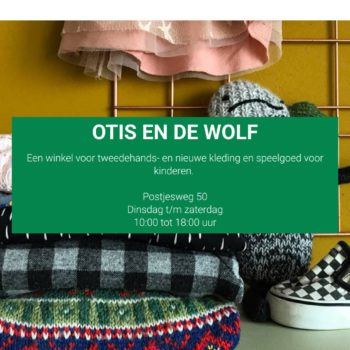 Screenshot website Otis en de wolf.