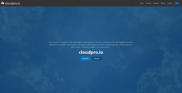 Screenshot Cloudpro.io EN - Home.