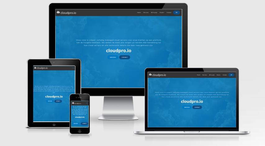 Cloudpro io responsive test.