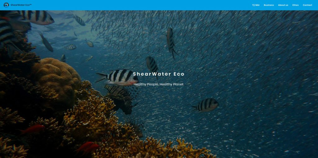 Screenshot startpagina - ShearWater ECO.