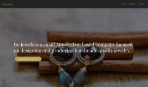 Screenshot Home - Bo Jewels Amsterdam.